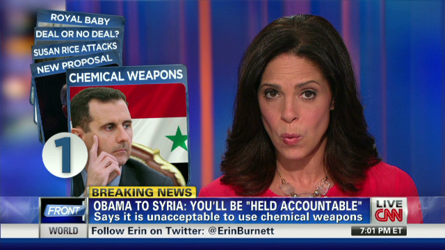 President warns Syria over chem. weapons
