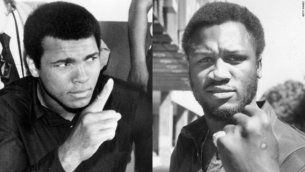 "Muhammad Ali, left, ""demonized"" Joe Frazier to hype up their fights despite being showed respect outside the ring by his rival. ""He came up with the gorilla term to create a spectacle, which he knew was important, but it revved himself up too,"" Tu says. ""He needed to have a real enemy. By the end of the (Manila) fight, he said that Frazier brought out the best of him."""