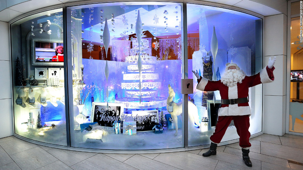 A man dressed as Santa Claus stands at The Paley Center for Media on December 5 in Beverly Hills, California.