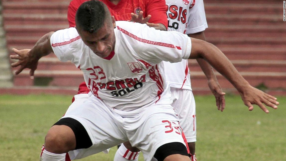 Mendieta's plight has highlighted the schism in Indonesian football, where two organizations are fighting for control of the game following the creation of a breakaway league. The players' union says 13 clubs are behind in promised salary payments.