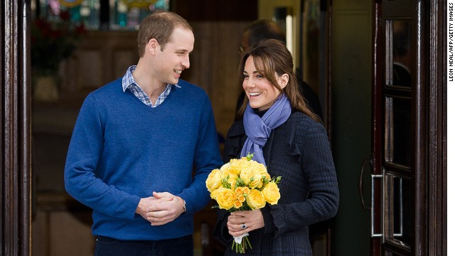 Watch Duchess Catherine depart hospital
