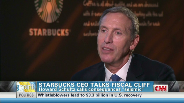 Starbucks CEO's fiscal cliff warning