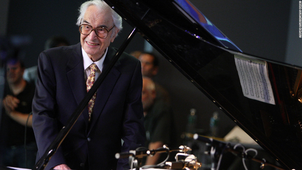 "Jazz pianist <a href=""http://marquee.blogs.cnn.com/2012/12/05/jazz-great-dave-brubeck-dies-at-91/"" target=""_blank"">Dave Brubeck</a>, 91, died December 5 from heart failure, said his manager, Russell Gloyd."