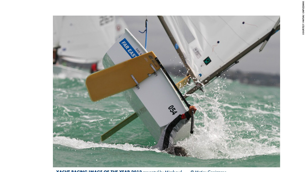 This vaguely comical image of a sailor struggling to get on board a wayward boat earnt Matias Capizzano fifth place.
