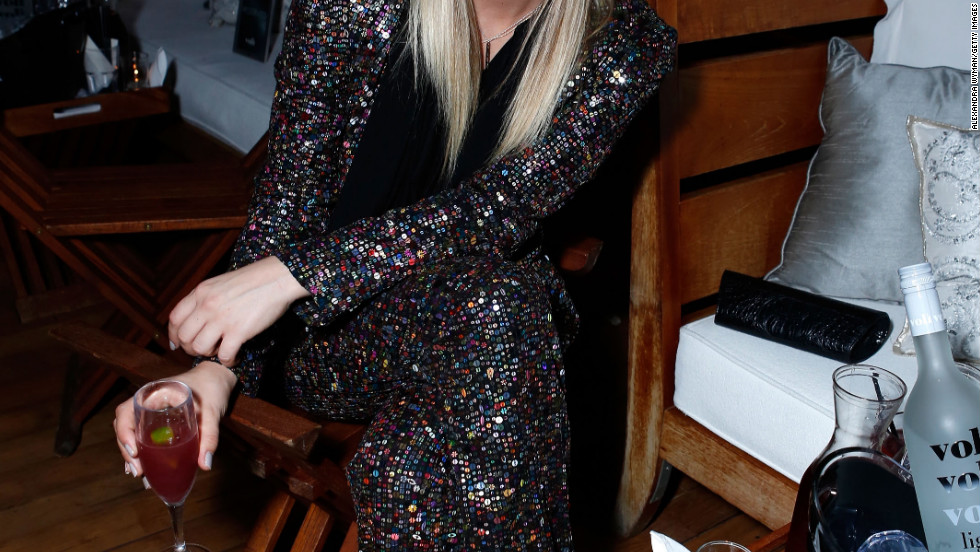 Kaley Cuoco attends Voli Light Vodka's holiday party.