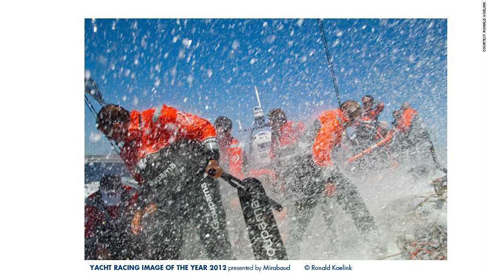 Ronald Koelink's action-packed photo of competitors during a practice-run of the Volvo Ocean Race in Cape Town earlier this month.