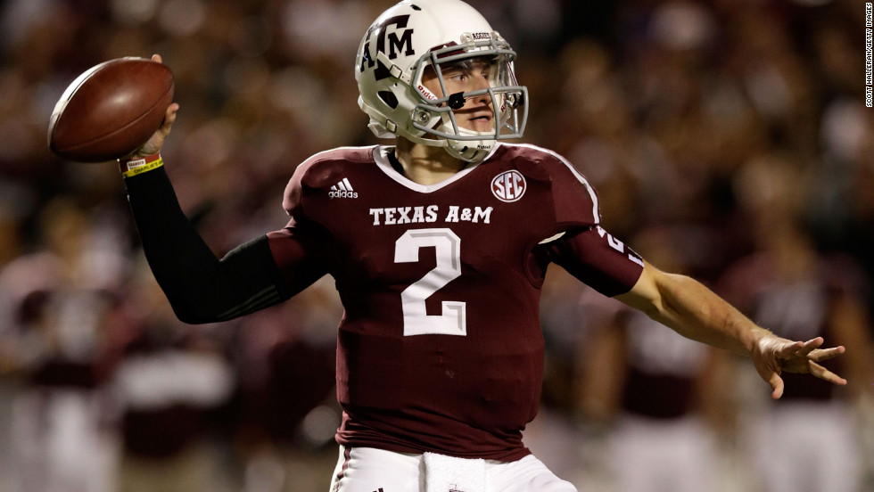 Manziel looks to pass on November 24.