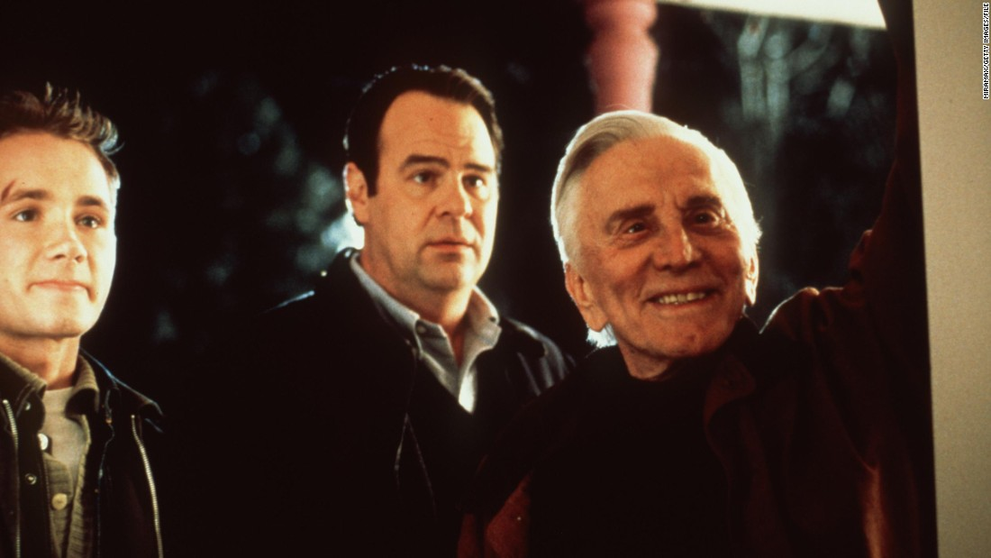 "From left, Corbin Allred, Dan Aykroyd and Douglas star in ""Diamonds"" (1999), one of the star's more recent screen appearances."