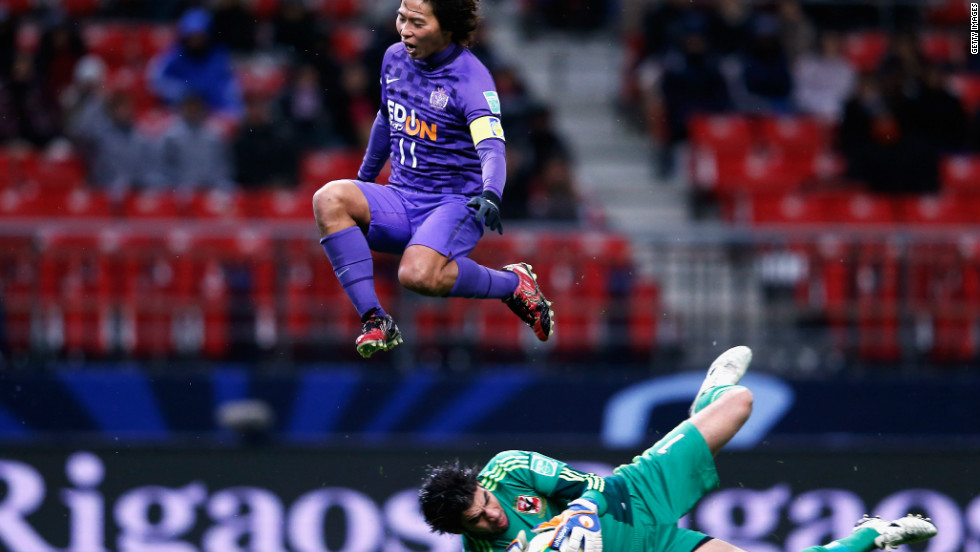 Hisato Sato had equalized in the first half, but on this occasion the J-League's top scorer was denied by goalkeeper Sherif Ekramy, whose Al-Ahly team will next play Brazil's Corinthians in Thursday's semifinals.