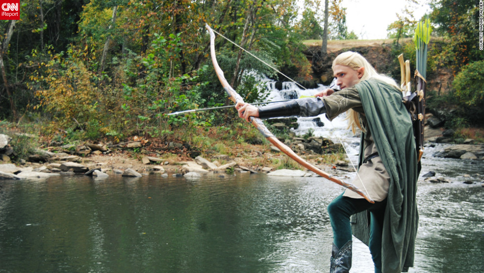 "Palmer met her boyfriend, Chris Herzberg, a dead ringer for Legolas, at Atlanta's Dragon*Con a few years ago. They work together on her costuming business and plan to attend a weekend screening of ""The Hobbit"" in full dress."