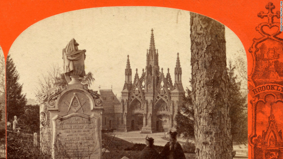 Founded in 1838, Green-Wood Cemetery in Brooklyn was designated a National Historic Landmark by the federal government in 2006.  It boasts one of the largest outdoor collections of 19th and 20th century statues and mausoleums.
