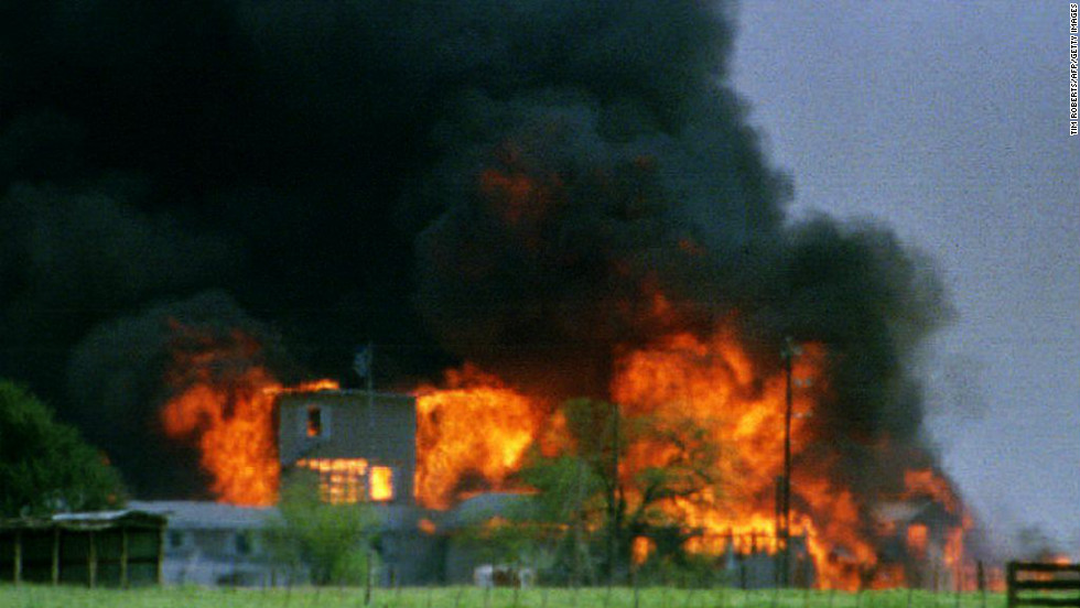 The Branch Davidians (a distant offshoot of the Seventh-day Adventist Church) became a household name when members killed four U.S. agents in a 1993 shootout at the group's compound near Waco, Texas. After a 51-day standoff, the FBI stormed the compound. An ensuing fire left nearly 80 Branch Davidians dead, including their leader and  prophet David Koresh. During the standoff, Koresh worked to decipher the seven seals of the book of Revelation, which he thought would explain the group's situation. The Branch Davidians were one of several apocalyptic movements since the 1970s to result in tragedy, including Jim Jones' Peoples Temple.