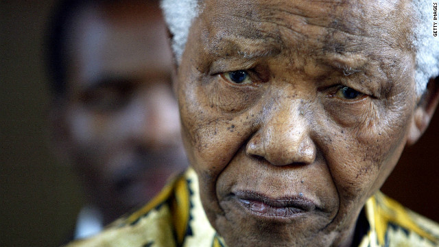"South Africa's Nelson Mandela ""was happy to have visitors on this special day,"" President Jacob Zuma said Tuesday."