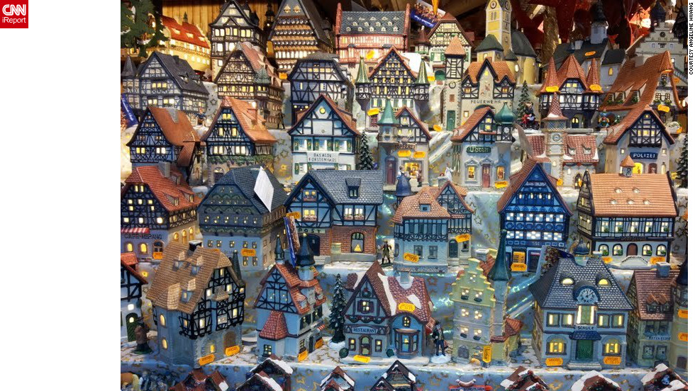 "<a href="" http://ireport.cnn.com/people/ALin77"">Angeline Hwang</a> took this picture of model cottages at a Christmas market in the German town of Hanau, the birthplace of the Brothers Grimm. German Christmas markets can have many themes, she said, and pop-up throughout the country during the festive months."