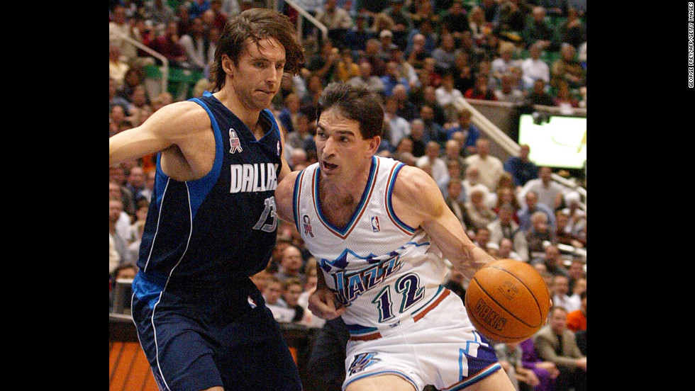 The Robin to Karl Malone's Batman, John Stockton arguably had the best court vision of any point guard in history. His résumé, simply put, is beastly: Not only is he No. 1 in assists (15,806) and steals (3,265), but Jason Kidd, the No. 2 in both categories, is almost 4,000 assists and nearly 700 steals behind him. A 10-time All-Star, Stockton can thank Michael Jordan for the one thing missing from his trophy case: a championship.