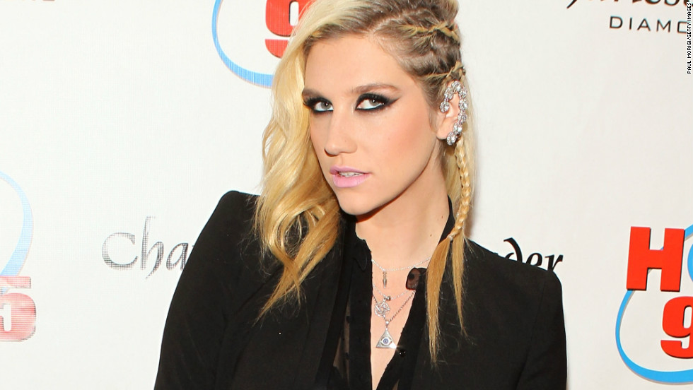 Ke$ha shows off her unique style as she arrives at Hot 99.5's Jingle Ball 2012 in Washington, D.C., on December 11.