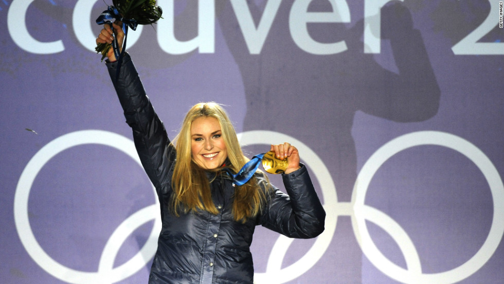 "Vonn's only Olympic gold medal to date came in the downhill competition at the 2010 Winter Olympics in Vancouver.  ""Seeing my name and the number one next to it was the best feeling I've had in my life,"" she told reporters."