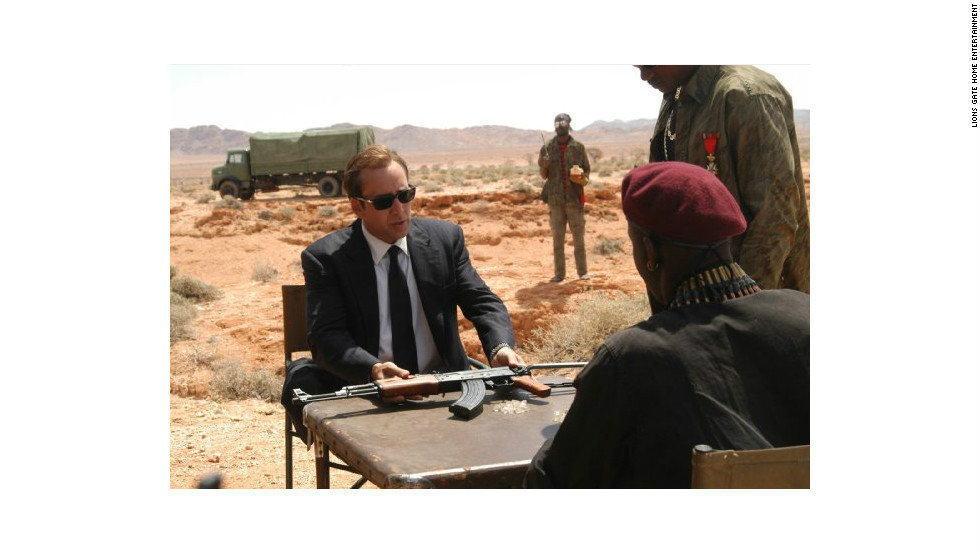 """Lord of War"" (2005), starring Nicholas Cage and Ethan Hawke."