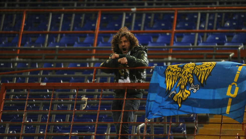 Arrigo Brovedani was the only Udinese supporter in a crowd of 15,000 at an Italian Serie A match away to Sampdoria.