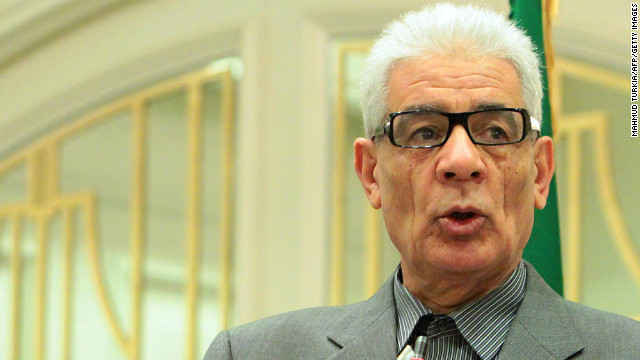 Libyan Foreign Minister Moussa Koussa speaks during a press conference in Tripoli on March 19, 2011.