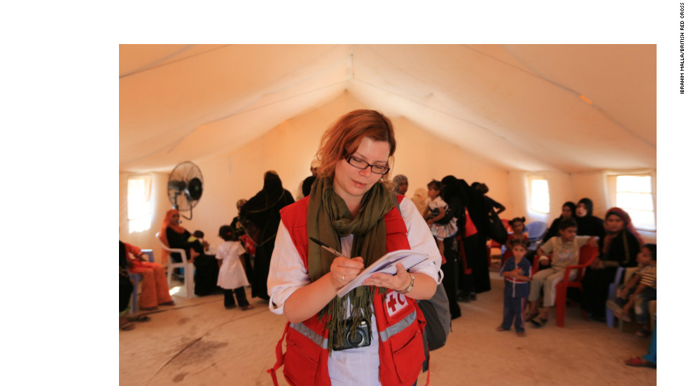 Gradually, after explaining the position of the Red Cross Red Crescent as a neutral, non-religious humanitarian agency, it has been possible to gain people's trust and register some refugees locally. But there are many thousands falling through the net.
