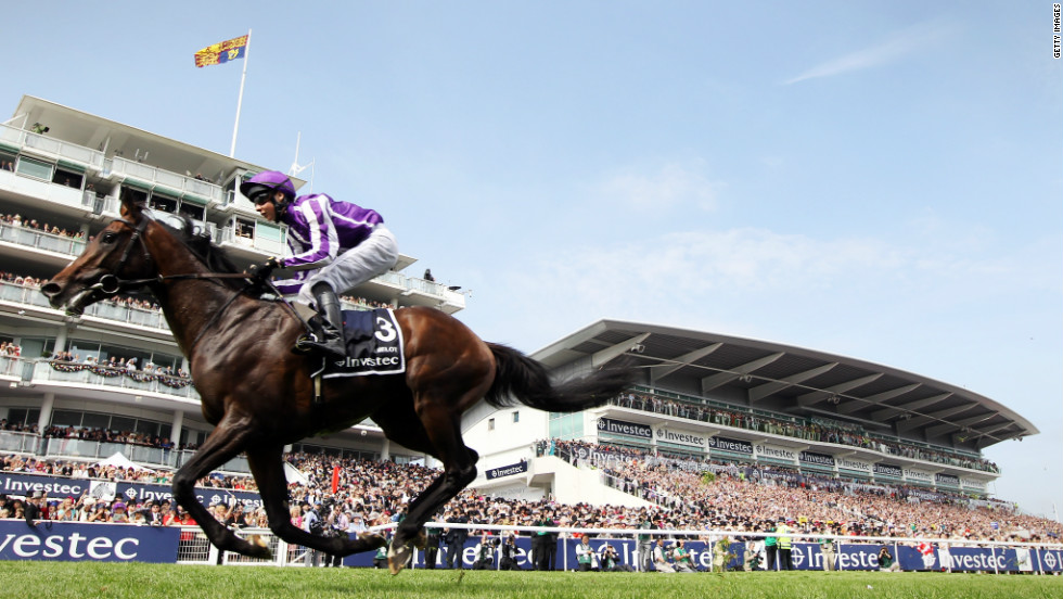 But it wasn't just a two-horse race. British thoroughbred Camelot came close to fulfilling his mythical promise, winning this year's 2,000 Guineas and Epsom Derby but failing to complete the English Triple Crown after finishing second at the St. Leger Stakes.