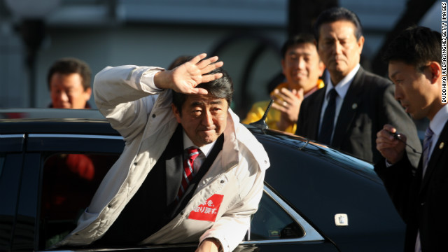 Japan's main opposition Liberal Democratic Party (LDP) leader Shinzo Abe was PM between 2006 and 2007.