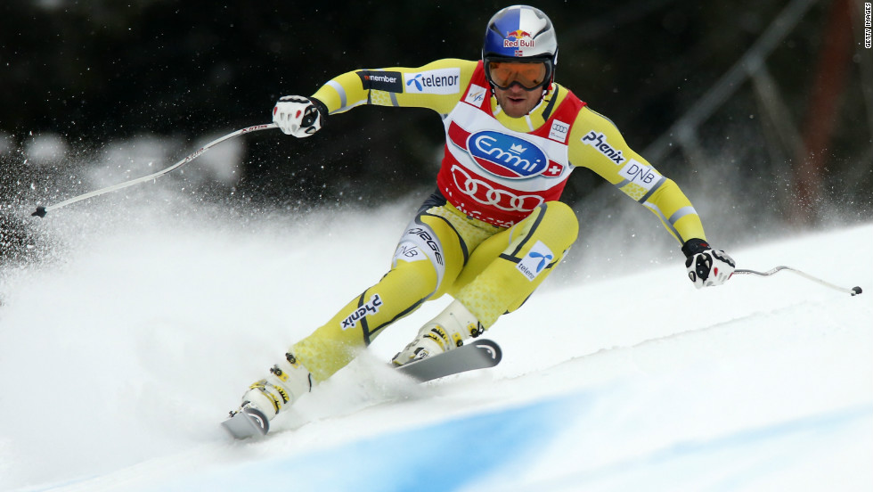 Aksel Lund Svindal was fifth, extending his overall World Cup lead to 177 points following his victory in the previous day's Super G race.