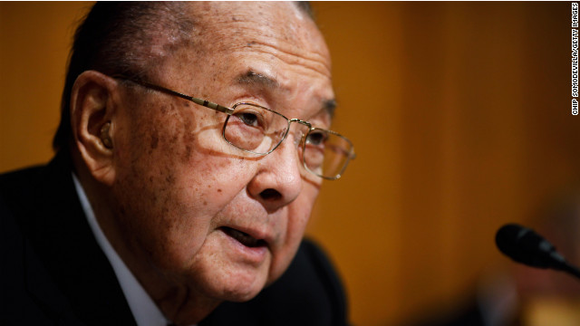 Daniel Inouye, the Medal of Honor-winning World War II veteran who represented Hawaii in the Senate for four decades, morto nel 2012 a 88