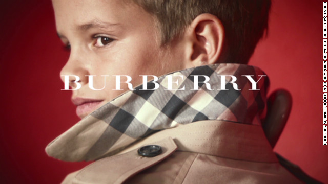 Beckhams' son is new Burberry star