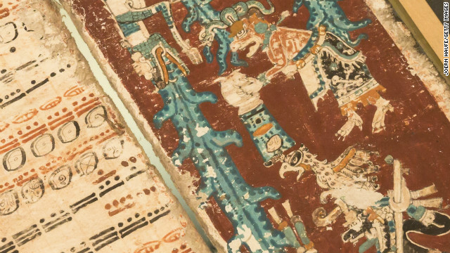 The 12th-century Dresden Codex, one of four Mayan manuscripts at the source of doomsday predictions.