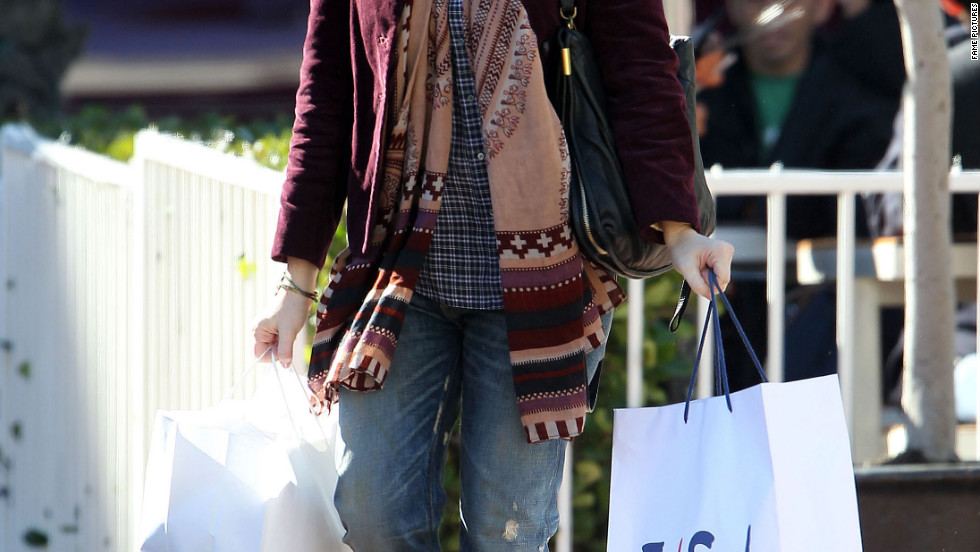 Alyson Hannigan goes shopping in Santa Monica.