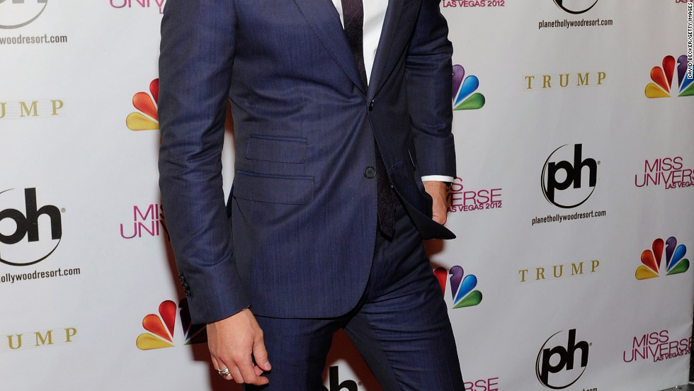 Diego Boneta arrives at the 2012 Miss Universe Pageant in Las Vegas.
