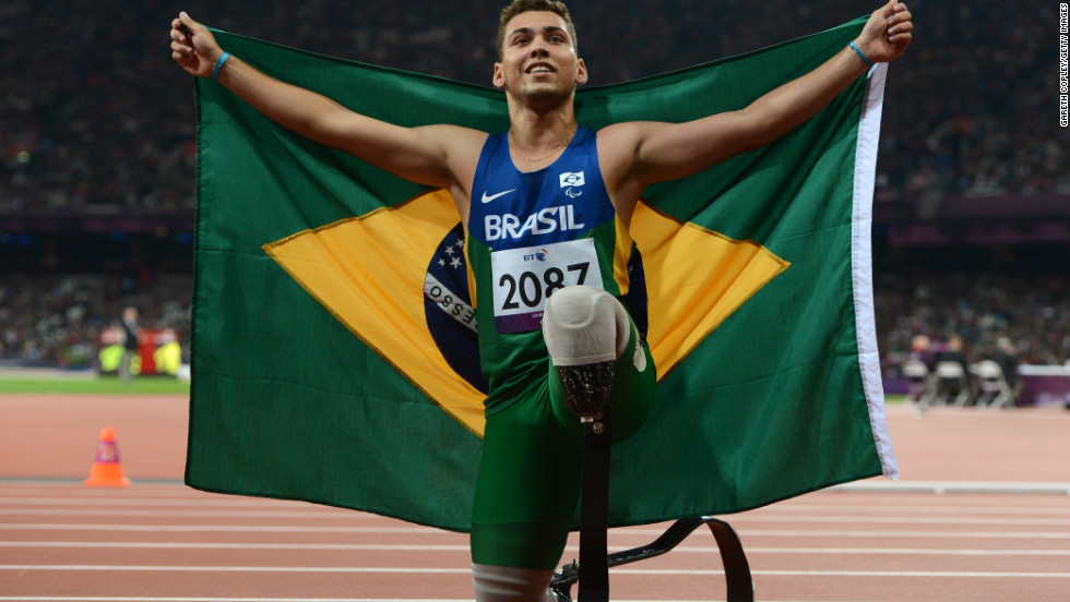 "<strong>9. Alan Oliveira <br /><br /></strong>Brazilian Paralympic athlete Oliveira became the surprise 200m gold medalist at London 2012 after beating favorite South African Oscar Pistorius, the world's most famous ""blade runner.""Pistorius immediately complained that the length of Oliveira's running blades gave him an unfair advantage. The International Paralympic Committee replied that all athletes competing in amputee events had their prostheses measured before the race, and Oliveira said it was ""difficult"" to hear allegations of cheating from someone he regarded as a ""great idol."""