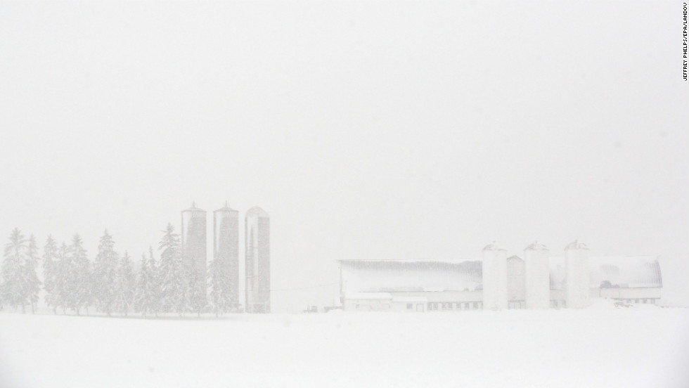 Snow covers a farm in Waupun on December 20.