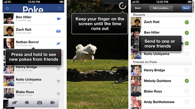 The new Facebook Poke iOS app lets you send expiring images, videos and messages to Facebook friends.