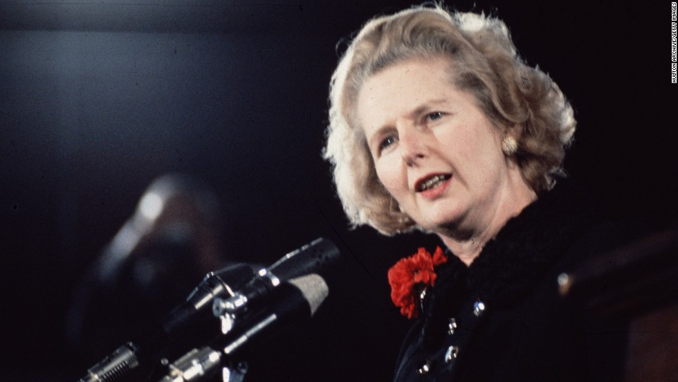 Thatcher takes over from Edward Heath as leader of the Conservative Party in 1975.