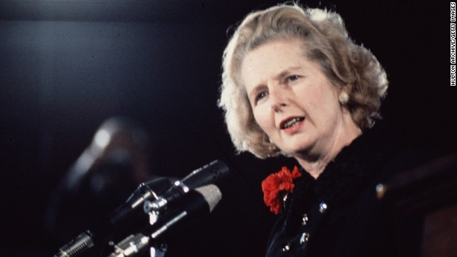 Thatcher takes over from Edward Heath as the new leader of the Conservative Party in 1975.