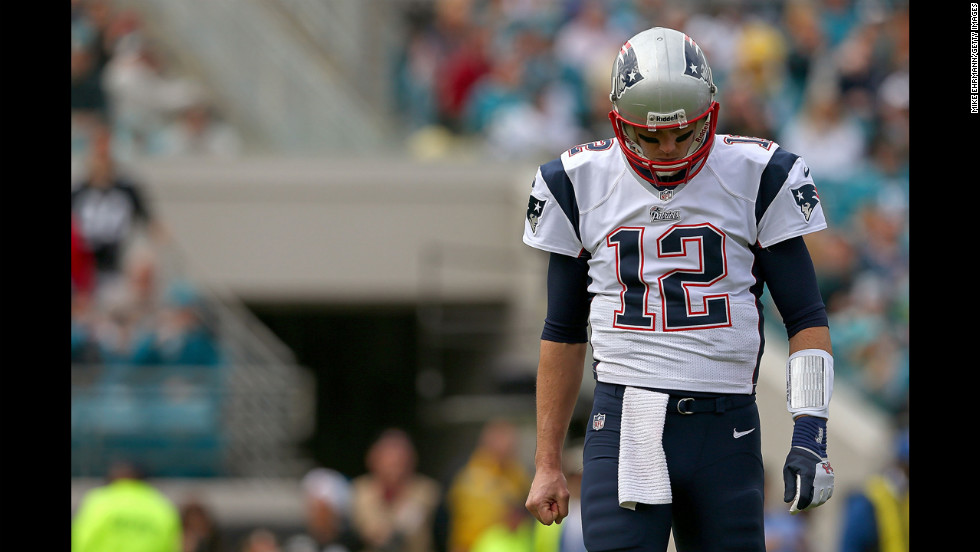 Tom Brady of the Patriots looks on against the Jaguars on Sunday.