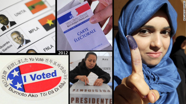 Elections worldwide sent voters to the polls in 2012.