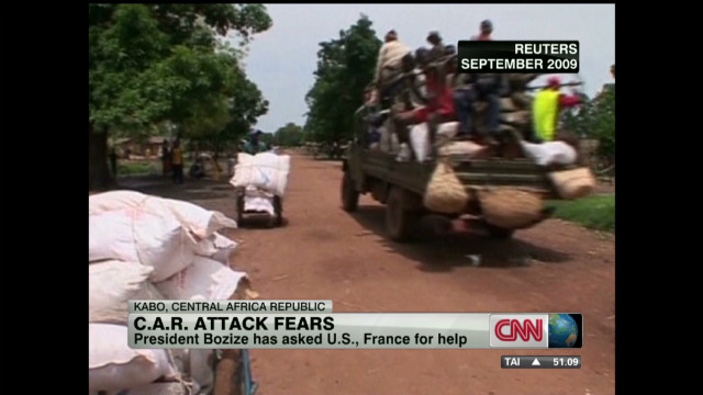 U.S. diplomats leave C.A.R. amid unrest