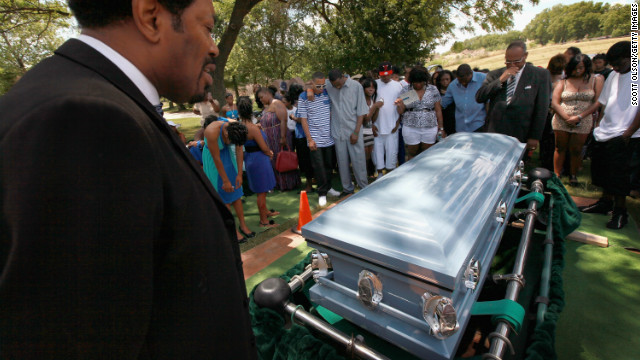 The funeral of Joseph Briggs, a 16-year-old killed in a drive-by shooting in Chicago on June 9.