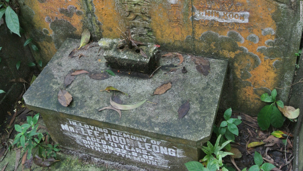 The tomb of Lee Hoon Leong -- the grandfather of modern Singapore's founder, Lee Kuan Yew -- as seen in Bukit Brown cemetery.