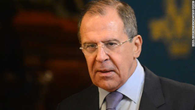 Russian Foreign Minister Sergei Lavrov arrives for talks with U.N.-Arab League peace envoy Lakhdar Brahimi in Moscow Saturday.