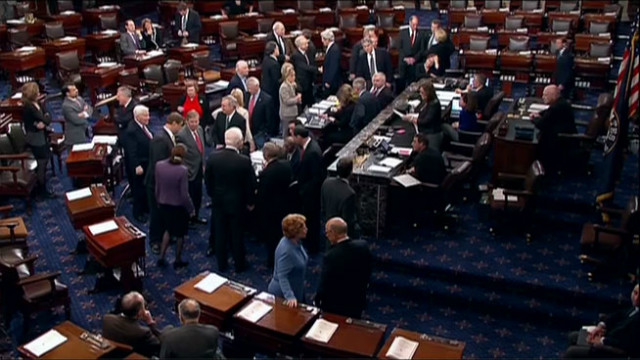 The U.S. Senate voted early Tuesday January 1, 2013.