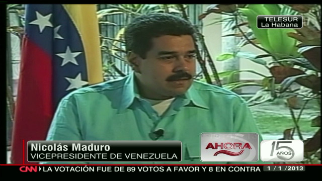 cnnee maduro interview chavez illness_00002918