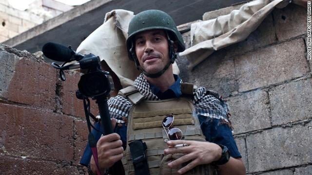 "A picture taken on November 5, 2012 in Aleppo shows US freelance reporter James Foley, who was kidnapped in war-torn Syria six weeks ago and has been missing since, his family revealed on January 2, 2013. Foley, 39, an experienced war reporter who has covered other conflicts, was seized by armed men  in the town of Taftanaz in the northern province of Idlib on November 22, according to witnesses. The reporter contributed videos to Agence France-Presse (AFP) in recent months.    AFP PHOTO / NICOLE TUNG RESTRICTED TO EDITORIAL USE - MANDATORY CREDIT ""AFP PHOTO/HO/NICOLE TUNG"" - NO MARKETING NO ADVERTISING CAMPAIGNS - DISTRIBUTED AS A SERVICE TO CLIENTSNICOLE TUNG/AFP/Getty Images"