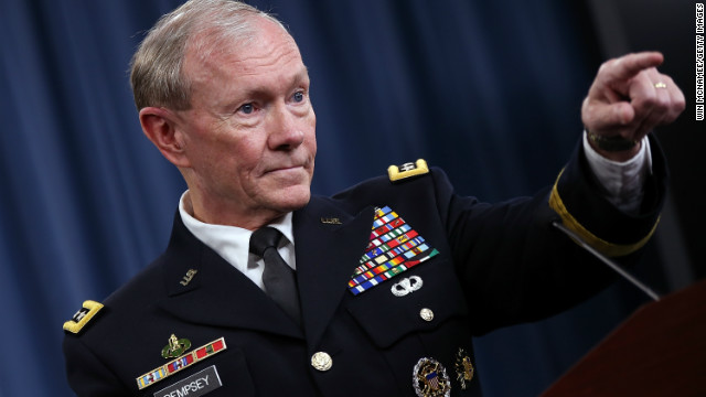 Chairman of the Joint Chiefs of Staff Gen. Martin Dempsey briefs the media at the Pentagon June 7, 2012 in Arlington, Virginia.