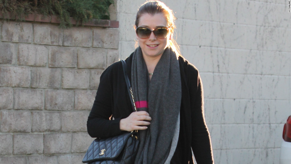 Alyson Hannigan smiles while out in Los Angeles on January 3.