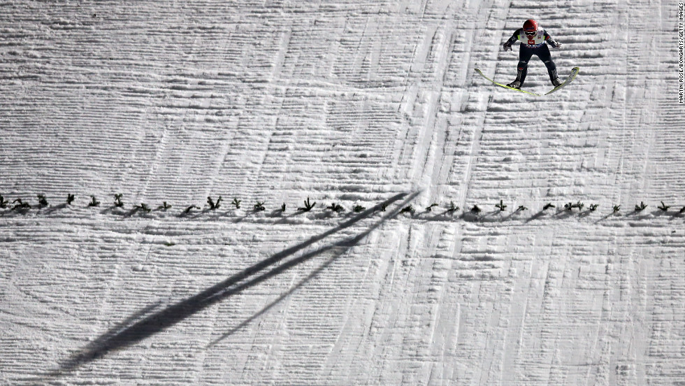 Severin Freund of Germany competes during the qualification round on January 5.